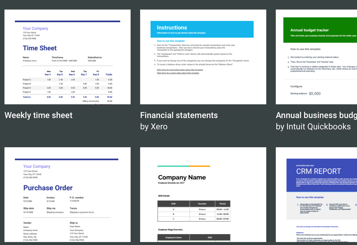 7 free small business budget templates fundbox blog google sheets budget templates accmission Choice Image