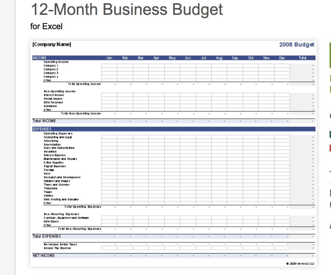 7 free small business budget templates fundbox blog vertex 42 templates wajeb Choice Image