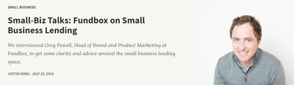 Greg Powell, Fundbox head of brand and product marketing, on ValuePenguin