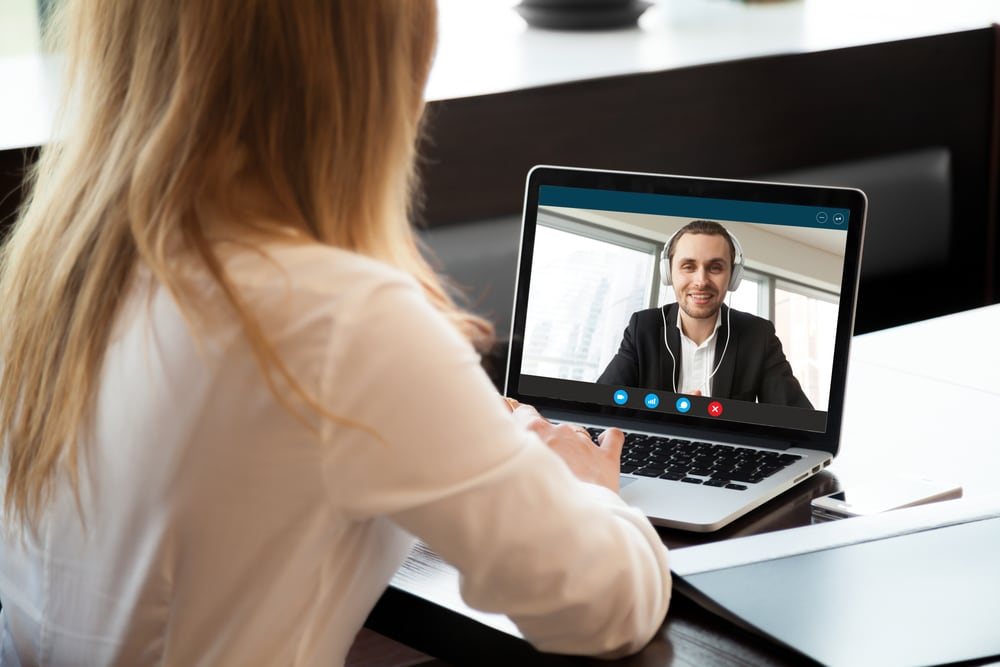 Video interview for a virtual assistant