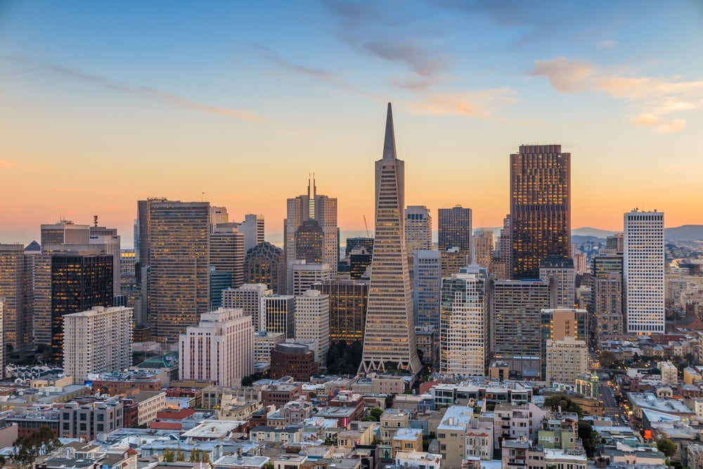 A view of downtown San Francisco, where you'll find the Fundbox SF office.