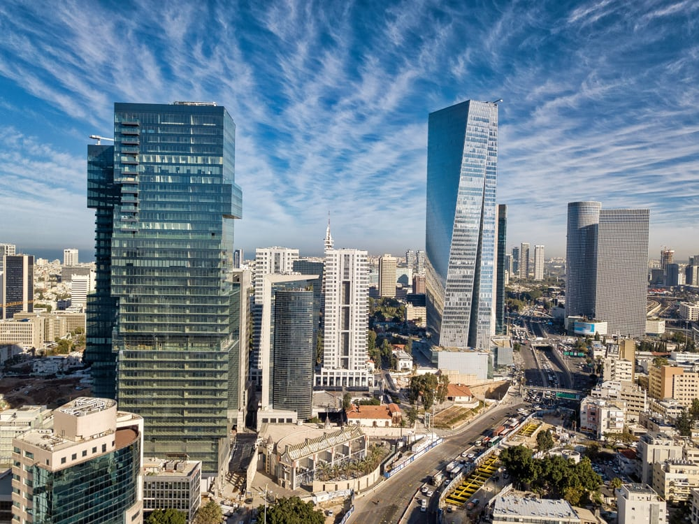 Skyscrapers in Tel Aviv