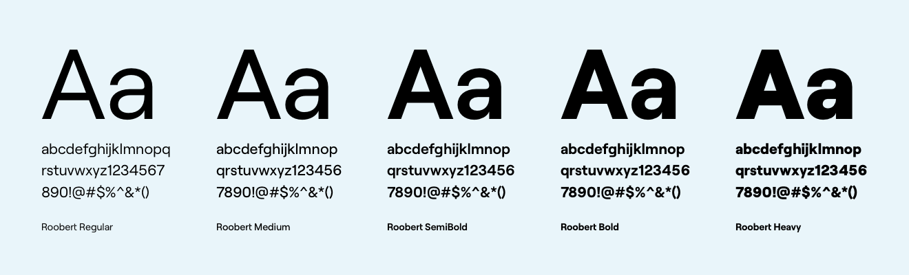 Fundbox typography Roobert